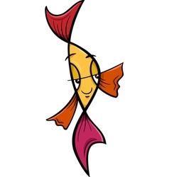 veiltail fish cartoon vector image