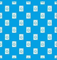 washer pattern seamless blue vector image