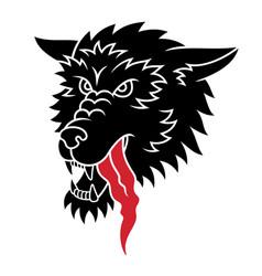 wolf tattoo 001 vector image