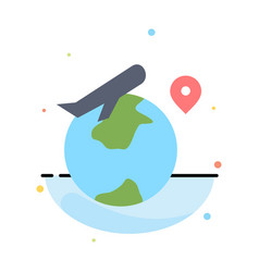 world location fly job abstract flat color icon vector image