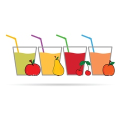 fruit with glass vector image