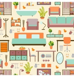 House furniture pattern vector image