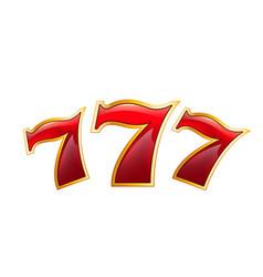 lucky seven casino poker jackpot icon vector image vector image