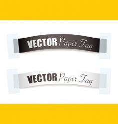 ribbon tags vector image vector image