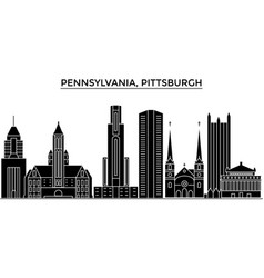 usa pennsylvania pittsburgh architecture vector image