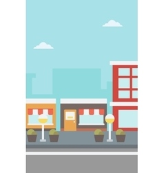 Background of city street vector image vector image