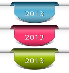Colorful arrows stickers 2013 vector image