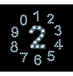 Diamond Numbers vector image
