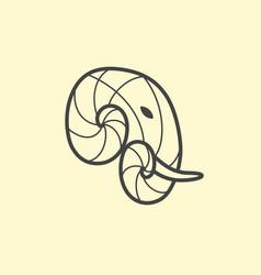 Elephant head logo design line art elephant vector