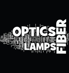 lamps for fiber optics text background word cloud vector image vector image