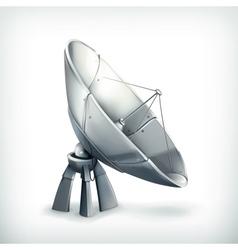 Parabolic antenna icon vector image
