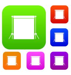 studio backdrop set collection vector image