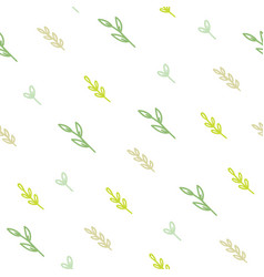 cute green branches background vector image