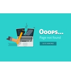 Error page 404 not found design vector image