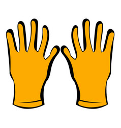 gloves of beekeeper icon icon cartoon vector image