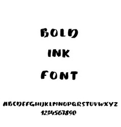 hand drawn font made by brush strokes modern vector image vector image