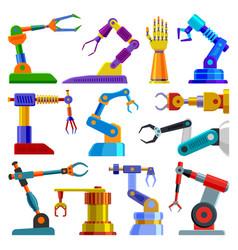 robot arm robotic machine hand technology vector image