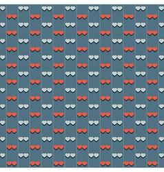 Vintage Hearts Pattern vector image vector image