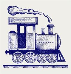 Wild West steam locomotive vector image vector image
