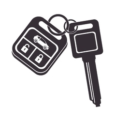 car key security control vector image