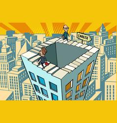 endless city career ladder vector image