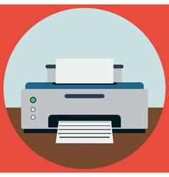 Home printer vector image