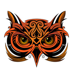 owl tattoo shape vector image