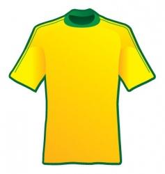 t-shirt of soccer of brazil vector image
