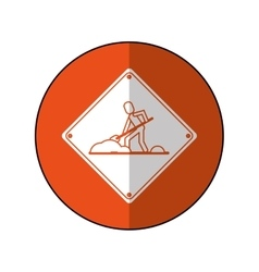 Warning under construction repair sign orange vector