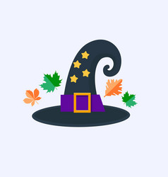 witch hat for halloween isolated on white vector image vector image