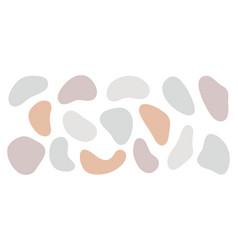 abstract organic shapes set modern vector image