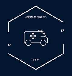 ambulance line icon vector image