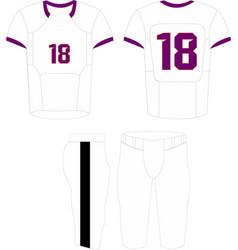 American football jersey-shirt sport design vector