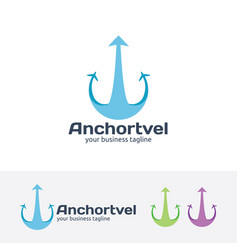 anchor travel logo design vector image