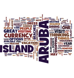 aruba text background word cloud concept vector image