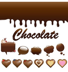 Assortment Chocolates vector image