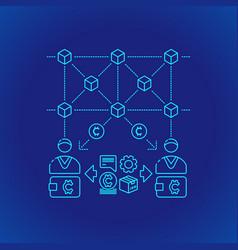 Blockchain distributed ledger technology vector
