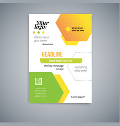 business abstract template flyer design vector image