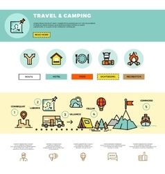 Camping traveling tourism infographic vector image