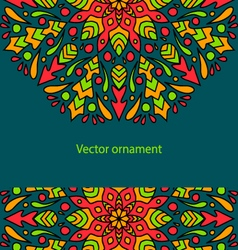 card with colored circular ornament vector image