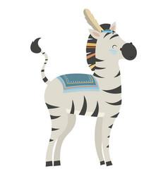 Cartoon zebra indian vector