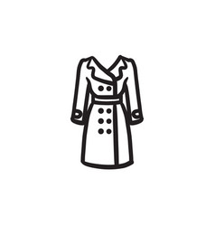 Coat sketch icon vector