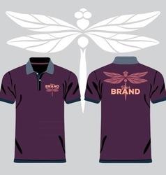 Color men polo shirts vector image