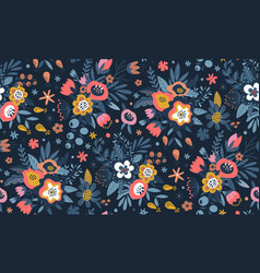 colorful natural seamless pattern vector image