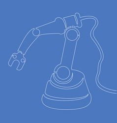 continuous one line robotic arm icon concept vector image
