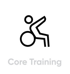 core training sport icon vector image