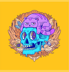 Creative and colorful creature vector
