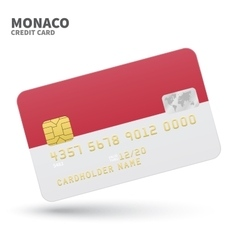 Credit card with monaco flag background for bank vector