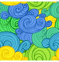 Curled abstract clouds vector