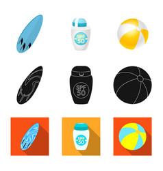 Design of equipment and swimming symbol vector